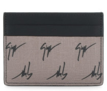 Fabric wallet with white 'Signature' motif THE SIGNATURE