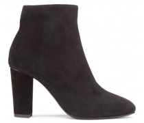 Black calf suede ankle boot CALLIE