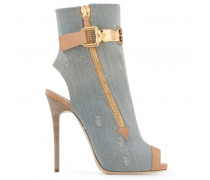 Denim and leather boot ROXIE