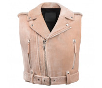 Pink velvet vest jacket AMELIA CRYSTAL