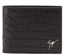 Crocodile-embossed leather wallet ALBERT