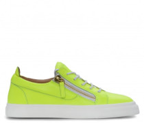 Yellow leather low-top sneakers NICKI