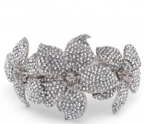 Metal bracelet with crystal flowers BOUQUET