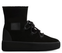 Black suede high-top sneaker ALLEN HIGH