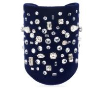 Blue velvet bracelet THE DAZZLING PEYTON