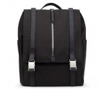 Black fabric backpack ISAAC