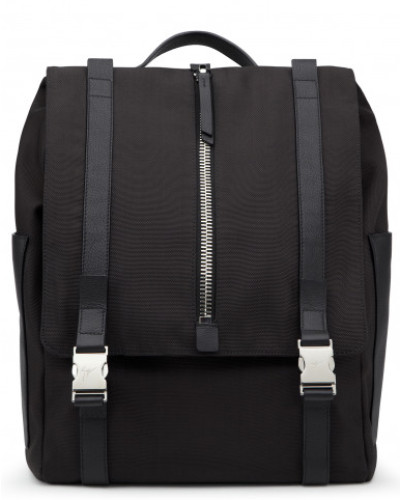 Billiger Blick 2018 Neue Preiswerte Online Giuseppe Zanotti Herren Black fabric backpack ISAAC ZA2tnI