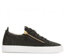 Crocodile-embossed low-top sneaker FRANKIE