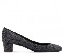 30 mm black fabric pump with glitter PATTY
