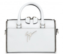 White kangaroo leather handbag JOY