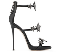Patent leather sandal with stars HARMONY STAR