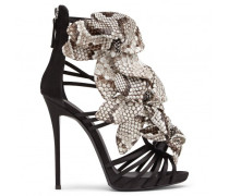 Python embossed calf leather sandals ALYSSA