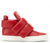 Red calfskin leather sneakers Cesar