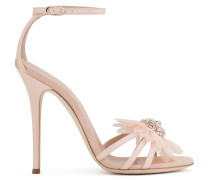 Patent leather sandal with bow ANNEMARIE