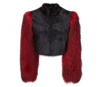 Black and red fur jacket SYBIL