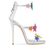 Patent leather sandal with multicolour stars HARMONY STAR