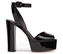 Black patent leather 'Betty' sandal with platform BETTY