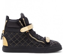 Black quilted nappa high-top sneakers JANET