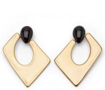 Gold metal earrings JASMINE