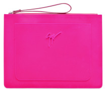 Saturated fuchsia calfskin leather pouch MISS UNFINISHED