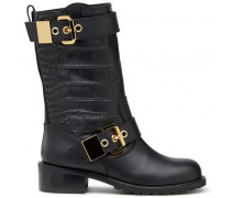 Black calfskin leather boot JANE