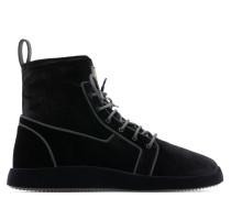 Stretch velvet high-top sneaker CESAR