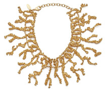 Gold tone brass necklace ARIEL
