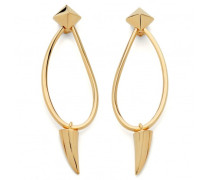 Gold metal earrings SHARK