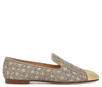 Fabric upper with golden glitter finishing loafer TERRY