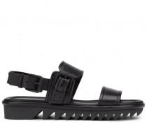 Black leather sandals FELIX