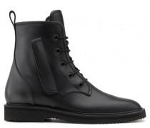 Black leather boot COMBAT