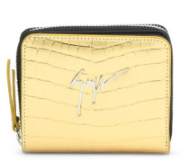 Crocodile-embossed leather wallet MARYLAND