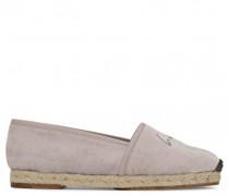Pearl grey velvet espadrilles RUTH