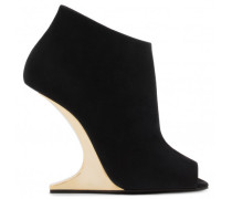 Black suede boot with 'sculpted' heel PICARD GOLD