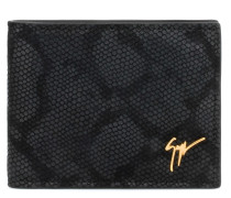 Python-embossed leather wallet ALBERT