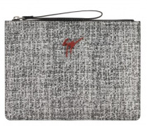 Suede pouch with signature TIM