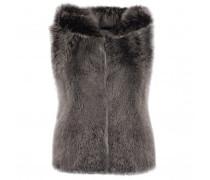 Grey lamb vest CASSANDRA