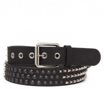 Men's fabric belt with studs KENNY