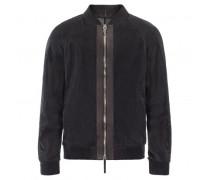 Black lambskin mesh jacket STEPHEN