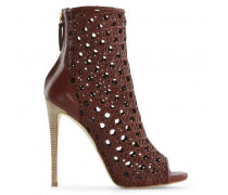 Brown perforated nappa boots ELLE