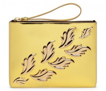 Mirrored gold leather 'Cruel' clutch CRUEL
