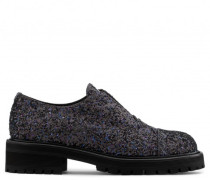 Black fabric shoe with glitter ANGELICA