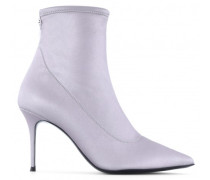 Silver stretch fabric boot SALOMÈ