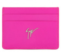 Leather cardholder with signature MIKY