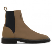Brown suede and leather boot CLAUDE