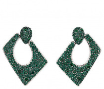 Green crystals squared earrings JASMINE CRYSTAL