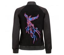 Black velvet and nappa 'Phoenix' jacket LANCE PHOENIX
