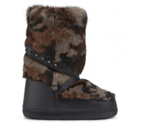 Camouflage Finnracoon fur ski boots DEVIN