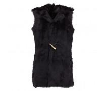 Black shearling vest RUBY