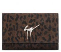 Leopard calf hair clutch CLEOPATRA